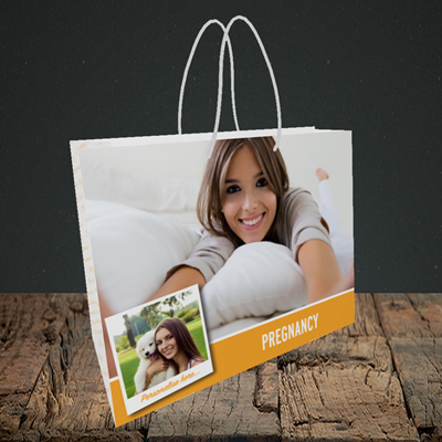 Picture of Photo, Pregnancy Design, Small Landscape Gift Bag