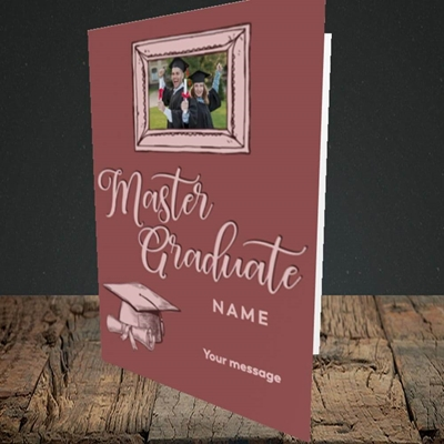 Picture of Master Graduate, Graduation Design, Portrait Greetings Card