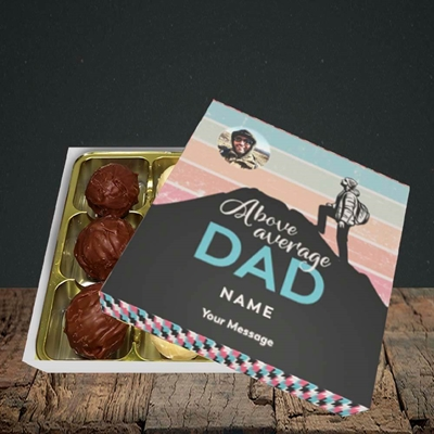 Picture of Above Average Dad, Father's Day Design, Choc 9