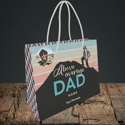 Picture of Above Average Dad, Father's Day Design, Small Landscape Gift Bag