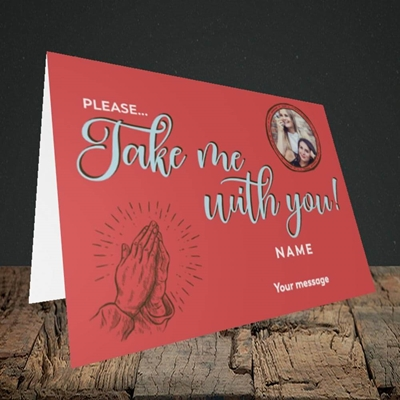 Picture of Take Me With You, Leaving Design, Landscape Greetings Card