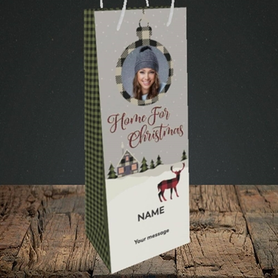Picture of Home For Christmas, Christmas Design, Bottle Bag