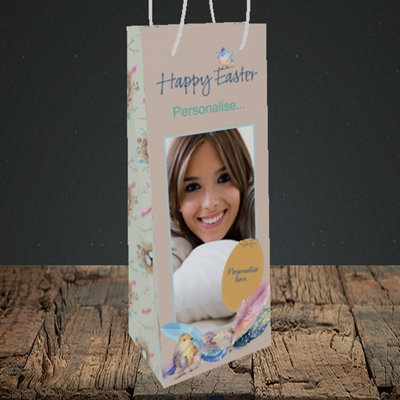Picture of Birds, Easter Design, Bottle Bag