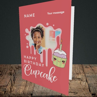 Picture of Cupcake, Birthday Design, Portrait Greetings Card