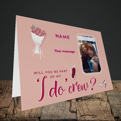 Picture of I Do Crew, Wedding Design, Landscape Greetings Card