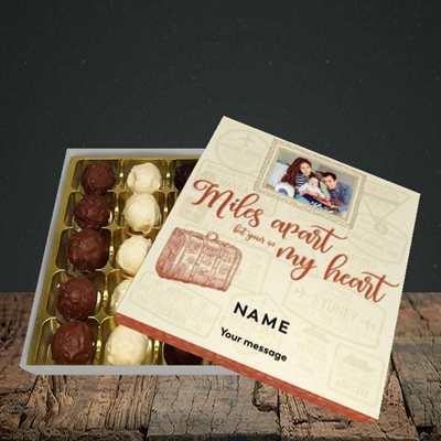 Picture of Miles Apart, Thinking Of You Design, Choc 25