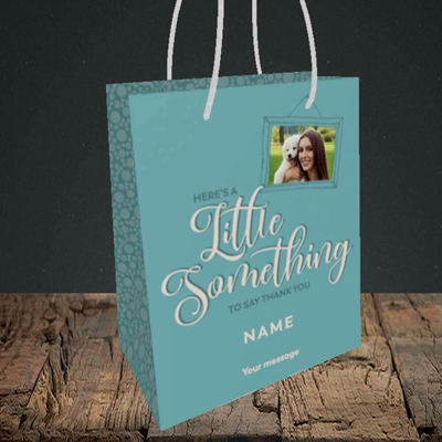 Picture of A Little Something, Thank You Design, Small Portrait Gift Bag