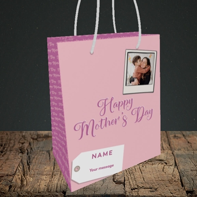 Picture of 2. Polaroid, Mother's Day Design, Small Portrait Gift Bag