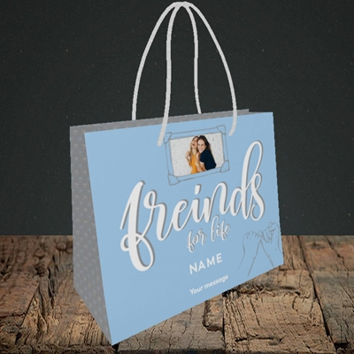 Picture of Friends For Life, Thinking of You Design, Small Landscape Gift Bag