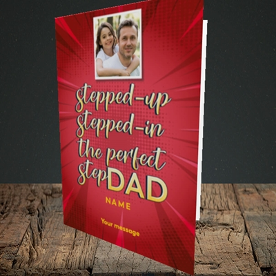 Picture of Stepped Up, Father's Day Design, Portrait Greetings Card