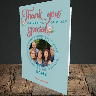 Picture of Thank You, Wedding Design, Portrait Greetings Card