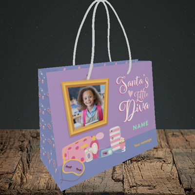 Picture of Little Diva, Christmas Design, Small Landscape Gift Bag