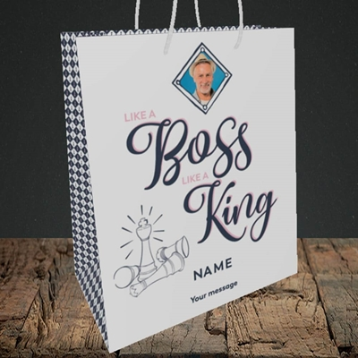 Picture of Like A Boss, Celebration Design, Medium Portrait Gift Bag