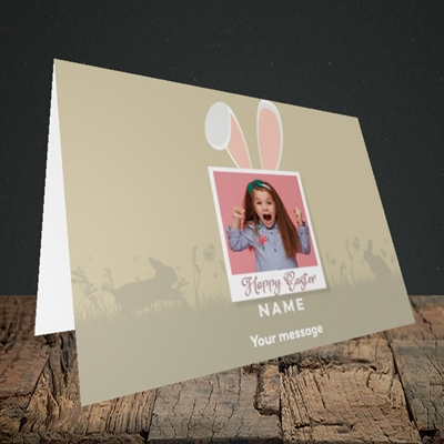 Picture of Hoppy Polaroid, Easter Design, Landscape Greetings Card