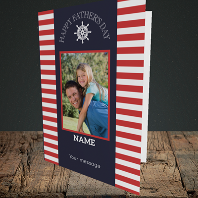 Picture of Nautical, Father's Day Design, Portrait Greetings Card