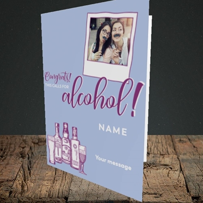 Picture of Calls For Alcohol, Celebration Design, Portrait Greetings Card