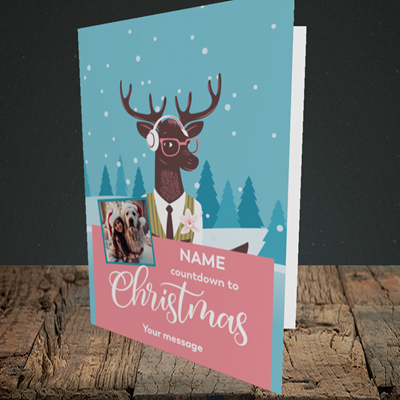 Picture of Countdown, Christmas Design, Portrait Greetings Card