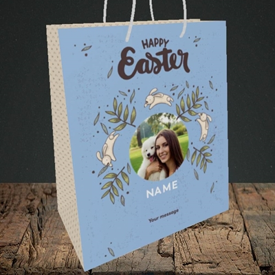 Picture of Running Bunnies, Easter Design, Medium Portrait Gift Bag