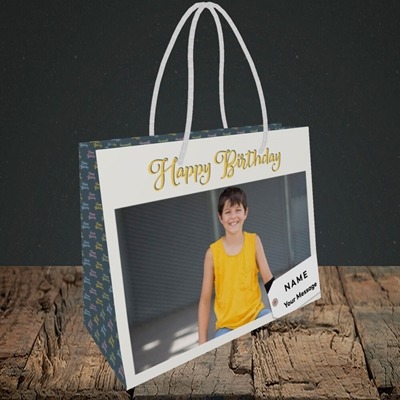 Picture of 1. A Happy Birthday, Large Photo, Birthday Design, Small Landscape Gift Bag