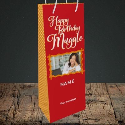 Picture of Muggle, Birthday Design, Bottle Bag
