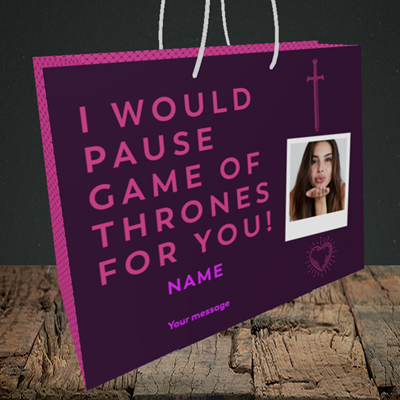 Picture of Game Of Thrones, Birthday Design, Medium Landscape Gift Bag