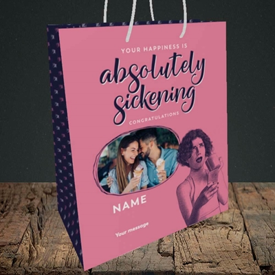 Picture of Absolutely Sickening, Wedding Design, Medium Portrait Gift Bag