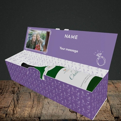 Picture of Got The Rock, Wedding Design, Lay-down Bottle Box