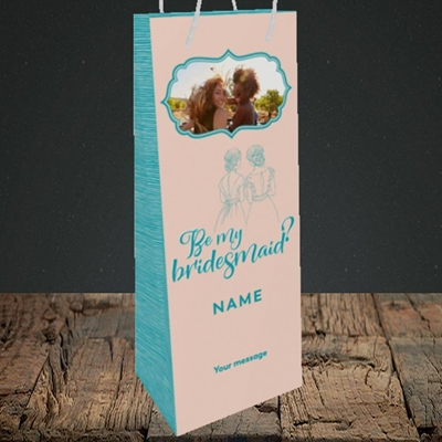 Picture of Be My Bridesmaid, Wedding Design, Bottle Bag