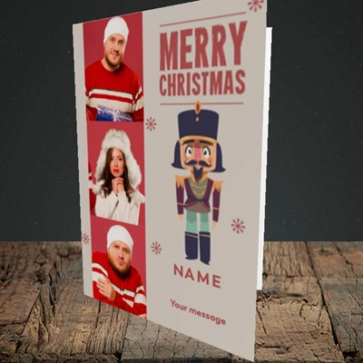 Picture of Merry Nutcracker, Christmas Design, Portrait Greetings Card