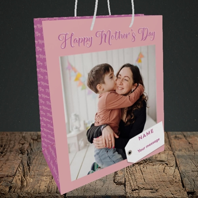 Picture of 1. Large Photo, Mother's Day Design, Medium Portrait Gift Bag