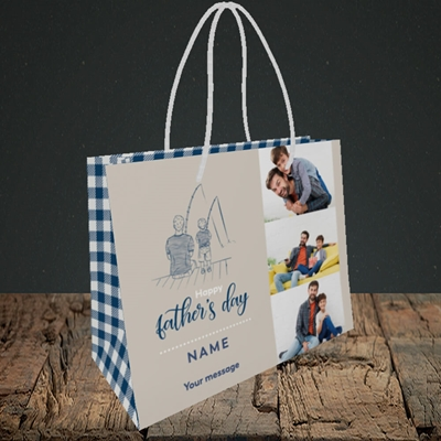Picture of Father & Son, Father's Day Design, Small Landscape Gift Bag