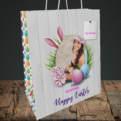 Picture of Grass, Easter Design, Medium Portrait Gift Bag