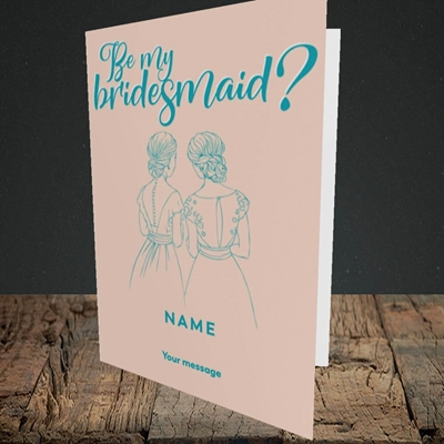 Picture of Be My Bridesmaid(Without Photo), Wedding Design, Portrait Greetings Card