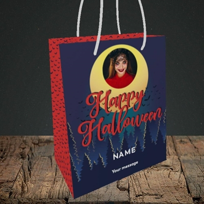 Picture of Spooky Forest, Halloween Design, Small Portrait Gift Bag