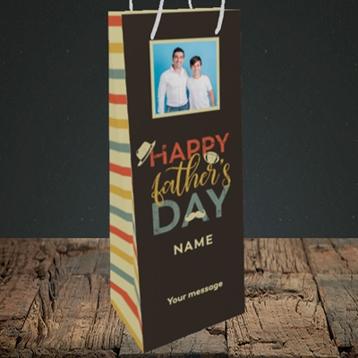 Picture of Retro, Father's Day Design, Bottle Bag