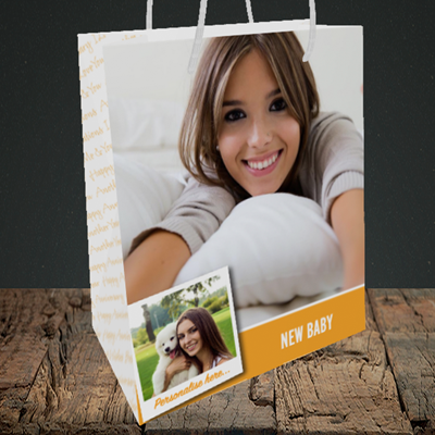 Picture of Photo, New Baby Design, Medium Portrait Gift Bag