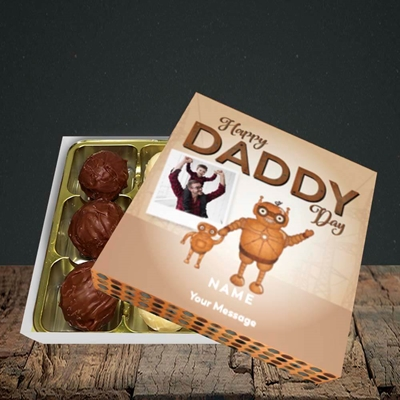 Picture of Daddy Robot, Father's Day Design, Choc 9