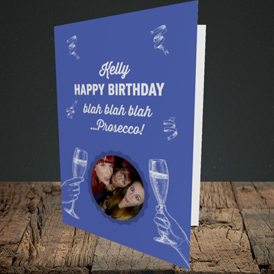 Picture of Blah, Birthday Design, Portrait Greetings Card