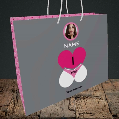 Picture of I Love Your Bum, Valentine's Design, Medium Landscape Gift Bag