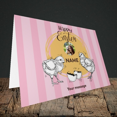 Picture of Little Chicks, Easter Design, Landscape Greetings Card