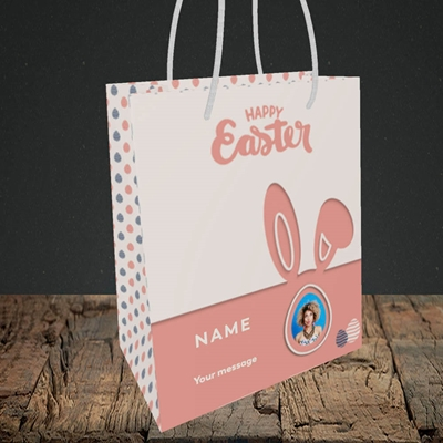 Picture of Ears & Egg, Easter Design, Small Portrait Gift Bag