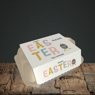 Picture of Happy Walking Egg(Without Photo), Easter Design, 6 Egg Box
