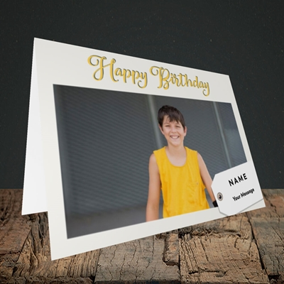 Picture of 1. A Happy Birthday, Large Photo, Landscape Greetings Card