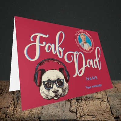 Picture of Fab Dad, Birthday Design, Landscape Greetings Card