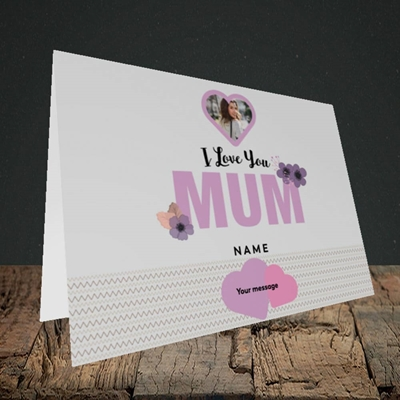 Picture of I Love You Mum, Mother's Day Design, Landscape Greetings Card