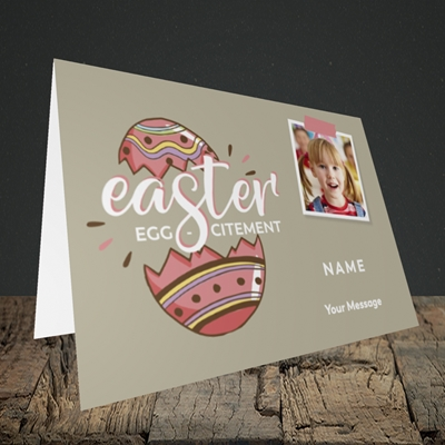 Picture of Egg-citement, Easter Design, Landscape Greetings Card
