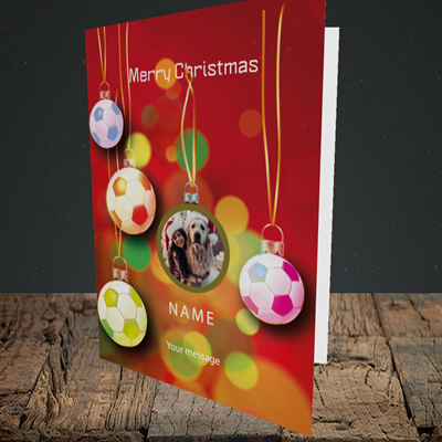 Picture of Christmas Baubles, Christmas Design, Portrait Greetings Card