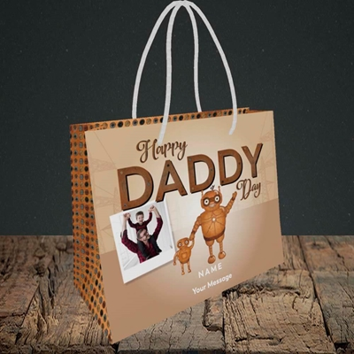 Picture of Daddy Robot, Father's Day Design, Small Landscape Gift Bag