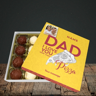Picture of Love You More Than Pizza, Father's Day Design, Choc 16