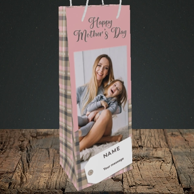 Picture of 1. Large Photo(Chequer), Mother's Day Design, Bottle Bag